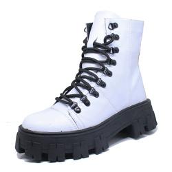 Coturno Tratorado Winnie Estilo Veggie Shoes Branc... - ESTILO VEGGIE SHOES