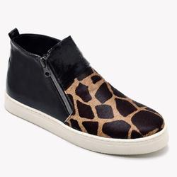 Tênis Botinha Slip On Manhattan - Preto/Giraffe - ... - EXYA