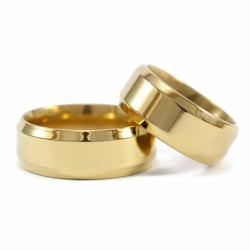 Alianças Pace 8mm ♥ Casamento E Noivado Tungstênio... - FABILE