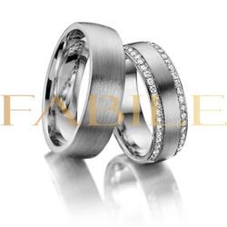 Alianças London ♥ Namoro e Compromisso em Prata 0,... - FABILE