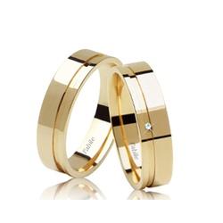 Alianças Botucatu ♥ Casamento e Noivado em Ouro 18... - FABILE