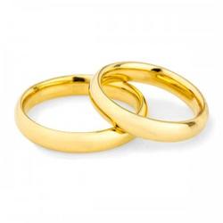 Par De Aliança Casamento De Ouro 18k Com 3,0mm Ana... - Fábrica do Ouro