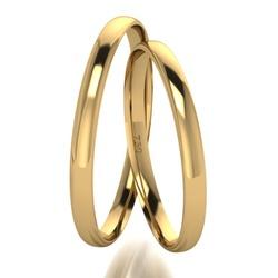 Par De Aliança De Ouro 18k Tradicional Com 2,5mm -... - Fábrica do Ouro