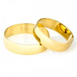 Par De Aliança Casamento De Ouro 18k Com 4mm - 100... - Fábrica do Ouro