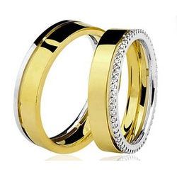 Par De Aliança Casamento De Ouro 18k Com 6mm - 100... - Fábrica do Ouro