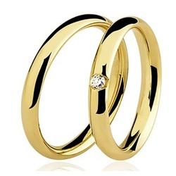 Par De Aliança Casamento De Ouro 18k Com 2.5mm e D... - Fábrica do Ouro