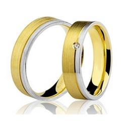 Par De Aliança Casamento De Ouro Branco e Amarelo ... - Fábrica do Ouro