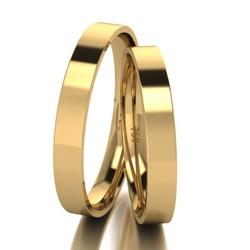 Par De Aliança De Ouro 18k Quadrada Com 3,0mm - 10... - Fábrica do Ouro