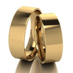 Par De Aliança De Ouro 18k Quadrada Com 6,0mm - 10... - Fábrica do Ouro