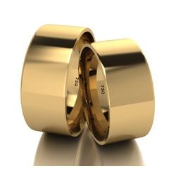 Par De Aliança De Ouro 18k Quadrada Com 8,0mm - 10... - Fábrica do Ouro