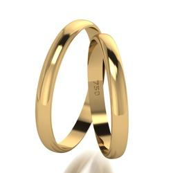 Par De Aliança De Ouro 18k Tradicional Com 3,0mm -... - Fábrica do Ouro