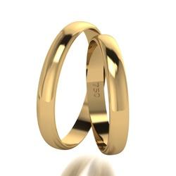 Par De Aliança De Ouro 18k Tradicional Com 4,0mm -... - Fábrica do Ouro