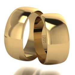 Par De Aliança De Ouro 18k Tradicional Com 8,0mm -... - Fábrica do Ouro