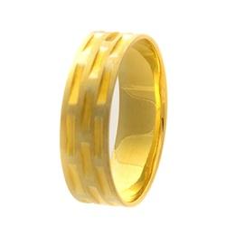 Aliança Individual De Ouro 18k De 5mm - 101523 - Fábrica do Ouro