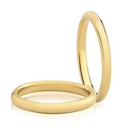 Par De Aliança Casamento De Ouro 18k Com 2,5mm - 1... - Fábrica do Ouro