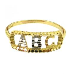 Anel Infantil De Ouro 18k Abc - 100318 - Fábrica do Ouro