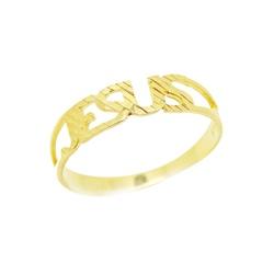 Anel De Ouro 18k Jesus - 100383 - Fábrica do Ouro
