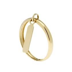 Anel De Ouro 18k Com Chapinha Pendurada - 100413 - Fábrica do Ouro