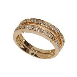 Par De Aparadores De Ouro 18k Com Diamantes De 2 P... - Fábrica do Ouro