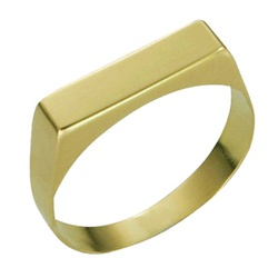 Anel Infantil De Ouro 18k Chapinha - 100605 - Fábrica do Ouro