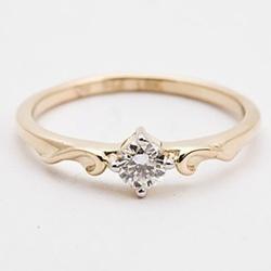 Anel De Ouro 18k Solitário Queen Com Diamante De 1... - Fábrica do Ouro