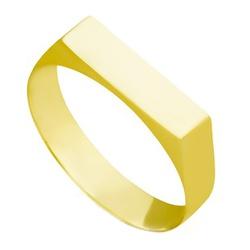 Anel De Ouro 18k Chapinha - 100656 - Fábrica do Ouro