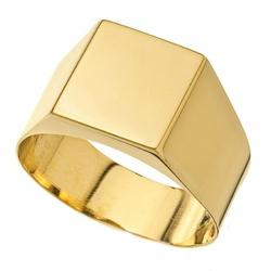 Anel De Ouro 18k Comendador Liso - 100837 - Fábrica do Ouro