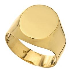 Anel De Ouro 18k Oval Maciço - 102308 - Fábrica do Ouro