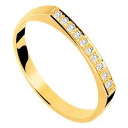 Anel De Ouro 18k Chapinha Cravejada - 101170 - Fábrica do Ouro