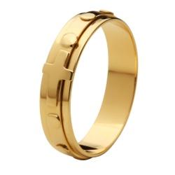 Anel De Ouro 18k Terço Grosso - 101200 - Fábrica do Ouro