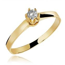 Anel De Ouro 18k Solitário Coroa Com Zircônia - 10... - Fábrica do Ouro