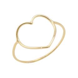 Anel De Ouro 18k Fio Coração - 101520 - Fábrica do Ouro