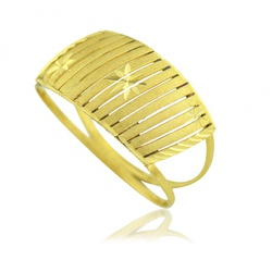 Anel De Ouro 18k Filetes Trabalhados - 101591 - Fábrica do Ouro