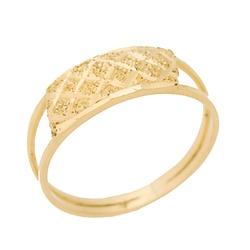 Anel Infantil De Ouro 18k Abacaxi - 101631 - Fábrica do Ouro