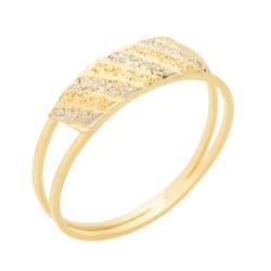 Anel Infantil De Ouro 18k Bicolor - 101632 - Fábrica do Ouro