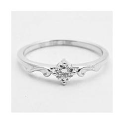 Anel De Ouro Branco 18k Solitário Com Diamante De ... - Fábrica do Ouro