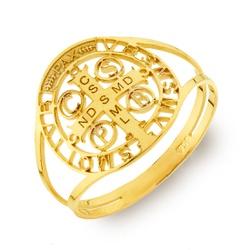 Anel De Ouro 18k São Bento Vazado - 101898 - Fábrica do Ouro