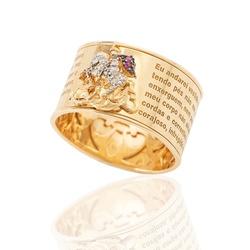 Anel De Ouro 18k São Jorge - 101921 - Fábrica do Ouro