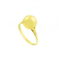 Anel De Ouro 18k Bola - 102022 - Fábrica do Ouro