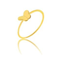 Anel De Falange De Ouro 18k Borboleta - 100263 - Fábrica do Ouro
