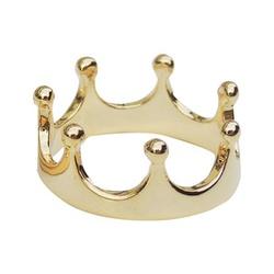 Anel De Falange De Ouro 18k Coroa - 100366 - Fábrica do Ouro