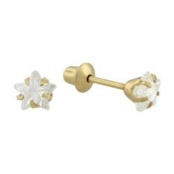Brinco De Ouro 18k Estrela 5mm - 100482 - Fábrica do Ouro