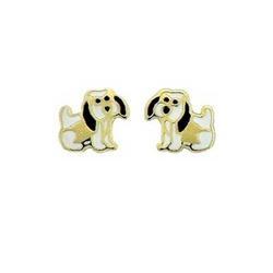 Brinco De Ouro 18k Cachorrinho - 100587 - Fábrica do Ouro
