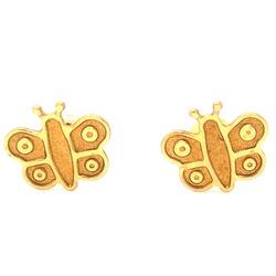 Brinco De Ouro 18k Borboleta - 100667 - Fábrica do Ouro