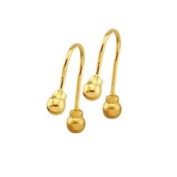 Brinco Infantil De Ouro 18k Anzol Com Bolinhas De ... - Fábrica do Ouro