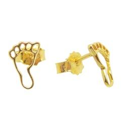 Brinco De Ouro 18k Pezinho - 100892 - Fábrica do Ouro