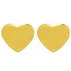 Brinco De Ouro 18k Coração Com 8,5mm - 101097 - Fábrica do Ouro