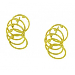 Brinco De Ouro 18k Cinco Elos - 101596 - Fábrica do Ouro