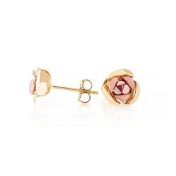 Brinco De Ouro 18 Rosa Bicolor - 101926 - Fábrica do Ouro