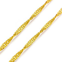 Corrente De Ouro 18k Singapura De 2,1mm Com 50cm -... - Fábrica do Ouro